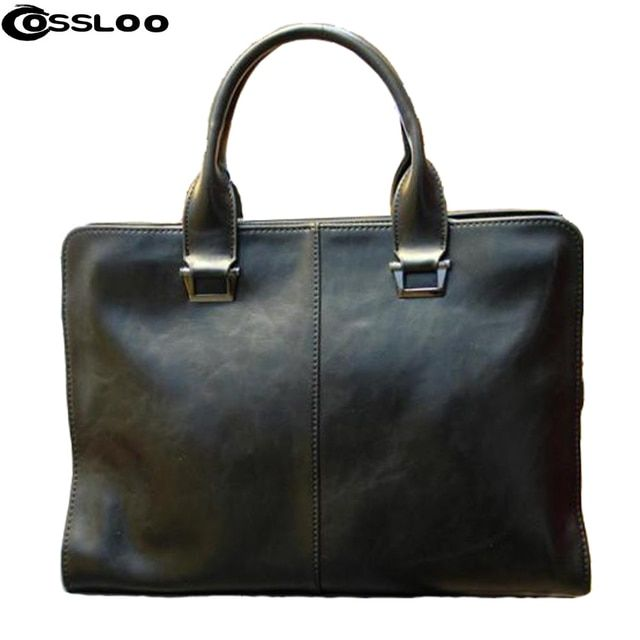 COSSLOO Promotion Authentic brand composite leather bag men's travel bags casual male shoulder briefcase for business man!