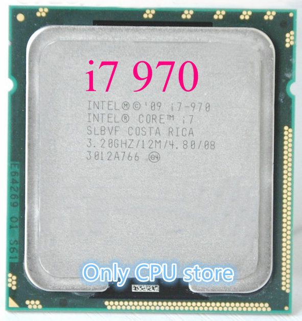 Free shipping Core i7-970 i7 970(3.2GHz/12MB /6 cores /Socket 1366/4.8 GT/s)Six Core Desktop CPU
