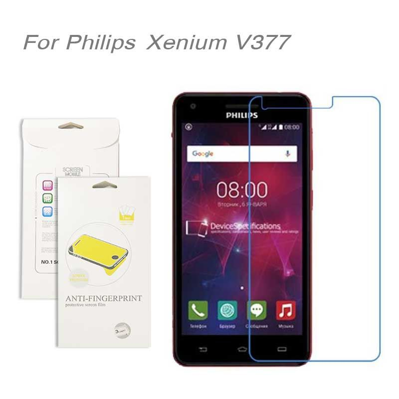 For Philips Xenium V377 ,3pcs/lot High Clear LCD Screen Protector Film Screen Protective Film Screen Guard For Philips V377