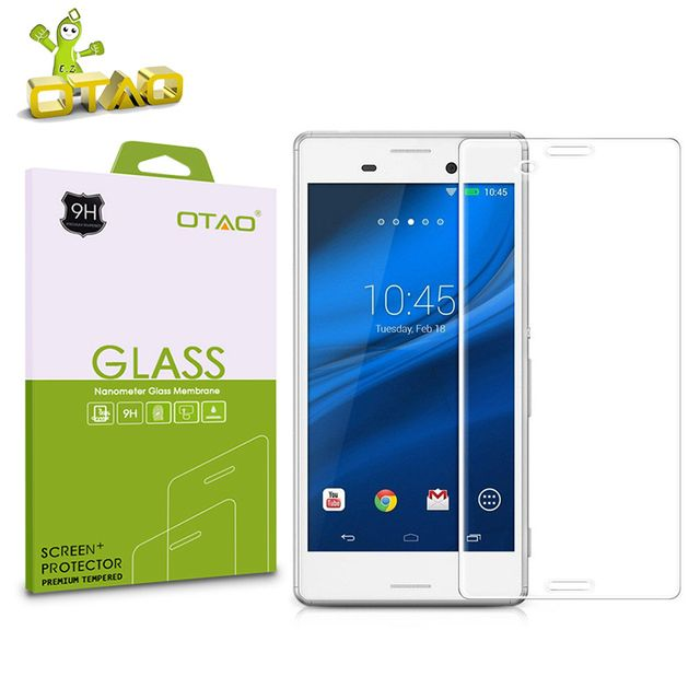 OTAO For Sony Xperia Z1 Z2 Z3 Z4 C3 C4 M4 M5 Z5 compact Premium Tempered Glass Screen Protector 2.5D 9H Film with Cleaning Kits