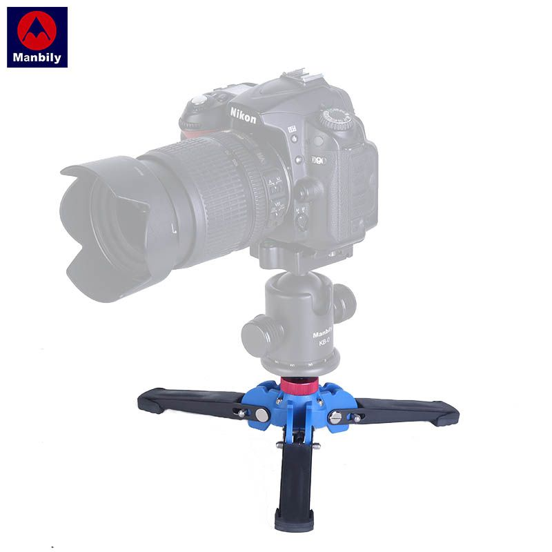 "Manbily Portable M1 Monopod Base Hydraulic Universal Mini Three Feet Support Tripod Stand for Monopod Ball head with 3/8"" screw"