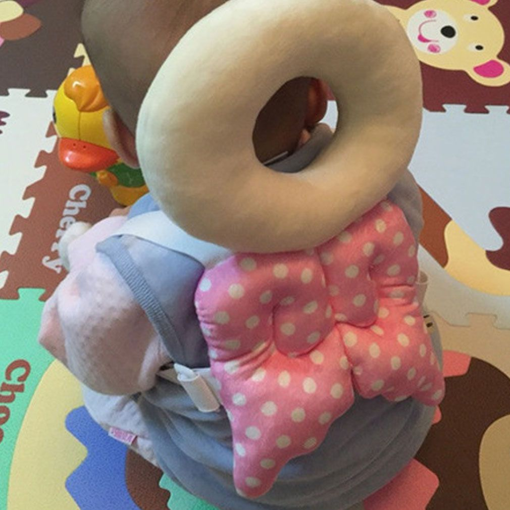 Cotton Baby Head Protection Pad Toddler Headrest Neck Cute Wings Nursing Drop Resistance Cushion Baby Fall Protection Pillowcase
