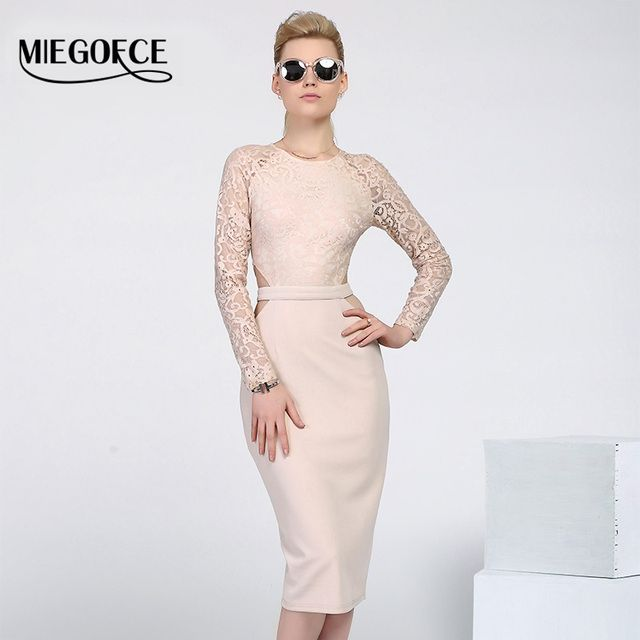 New Design MIEGOFCE 2016 Summer Women Dresses to the knee Fashion Spring Female Casual Office Pencil Dresses Fitted hot selling