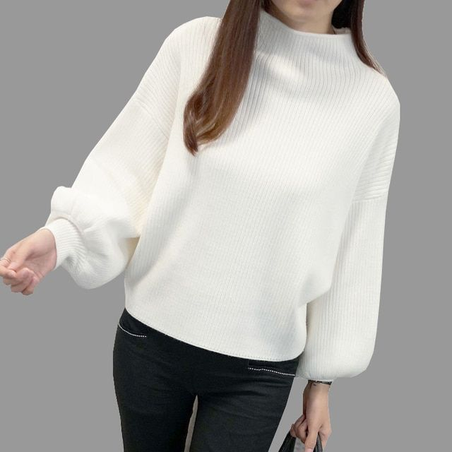2017 New Winter Women Sweaters Fashion Turtleneck Batwing Sleeve Pullovers Loose Knitted Sweaters Female Jumper Tops