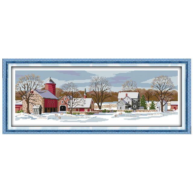 Northern Scenery Patterns Counted Cross Stitch 11CT 14CT Cross Stitch Set Wholesale Cross-stitch Kits Embroidery Needlework