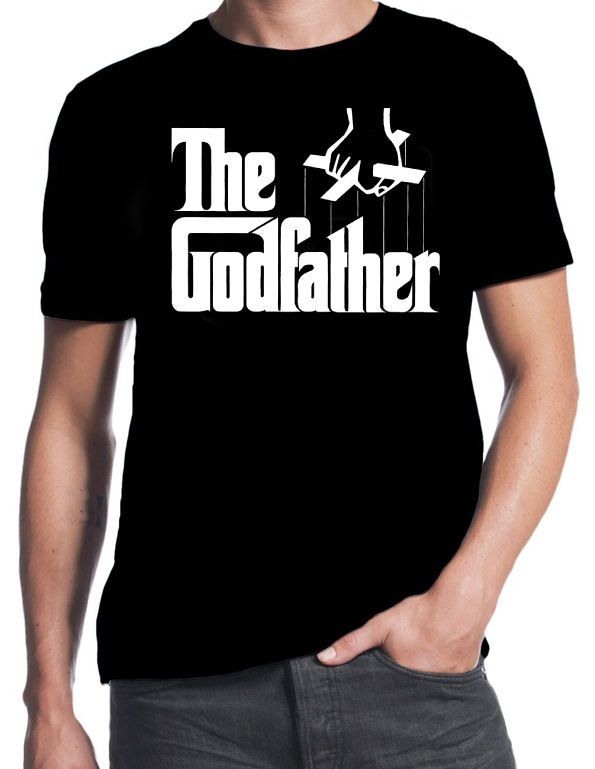 The Godfather Mafia Crime Family Cult Classic Movie Logo New Mens Black T-Shirt T Shirt For Men/Boy Short Sleeve Cool Tees