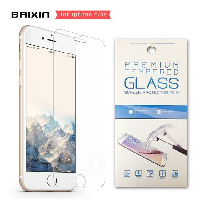 0.26mm 2.5D Clear Premium Tempered Glass for iphone 6 6s 6 s 4.7 inch Screen Protector Glass Film Cover With Retail Package
