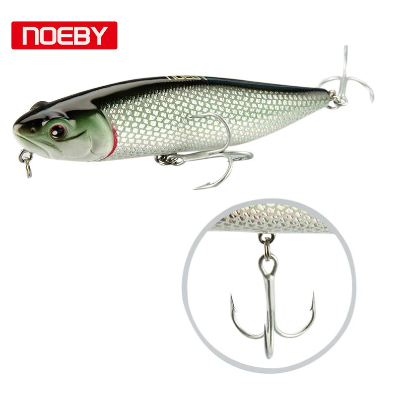 2018 Hot -Noeby Peche 1 pcs Pike Lure Fishing Bait 115mm 25.5g Top Water Fishing Wobbler Floating Jerkbait