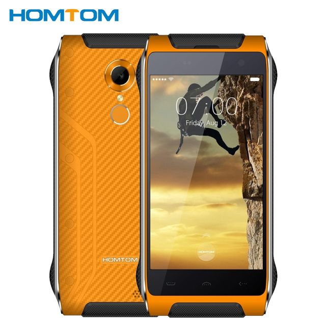 Original Homtom HT20 Waterproof Shockproof Phone 2GB RAM 16GB ROM MTK6737 Quad Core 4.7 inch 3500mAh Android 6.0 Mobile Phone