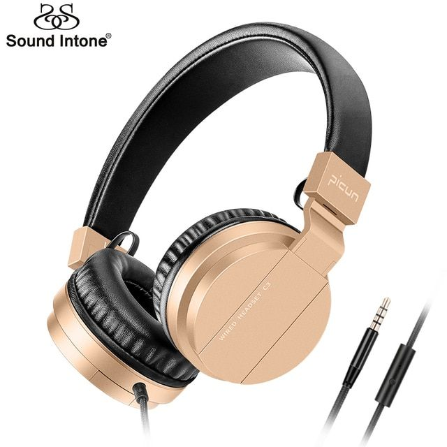 Sound Intone C3 Headphones with Microphone Bass Stereo Adjustable Headsets for iPhone Android Smartphones for Kids or Adult