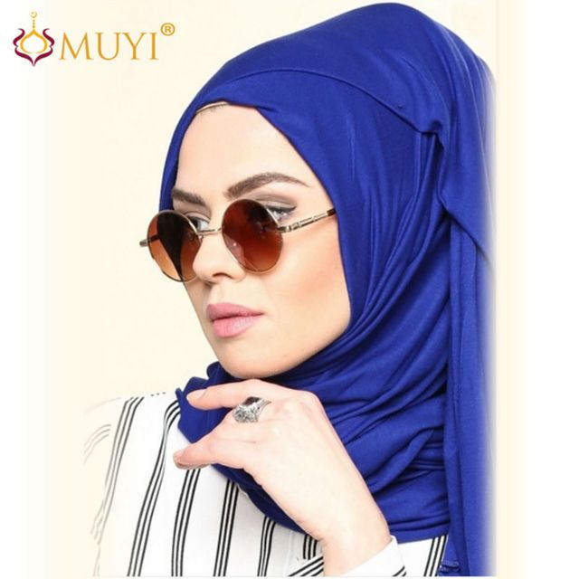 Women Hijabs Muslim Hijab Double Stretch Jersey Turban Cotton Wrap Brown Headscarf Rectangle Shawl Head Coverings Big Size 2018