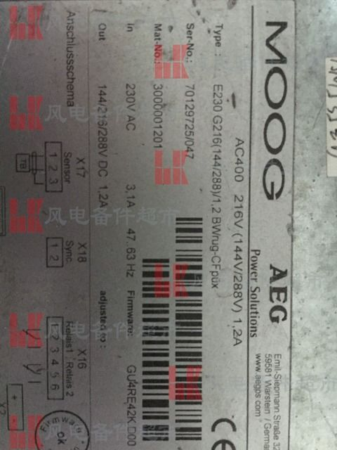 MOOG   E230 G216 used can normal working free DHL