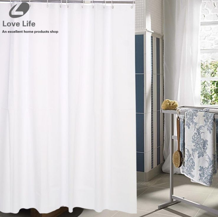 white Shower Curtains modern bath curtains shower bathroom curtain waterproof cortina ducha home decor 8sizes Free shipping
