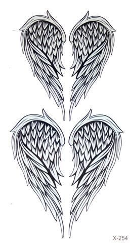 1PC beautiful Cute Body Art Beauty Makeup Cool Angel wings Waterproof Temporary Tattoo Stickers for men and women
