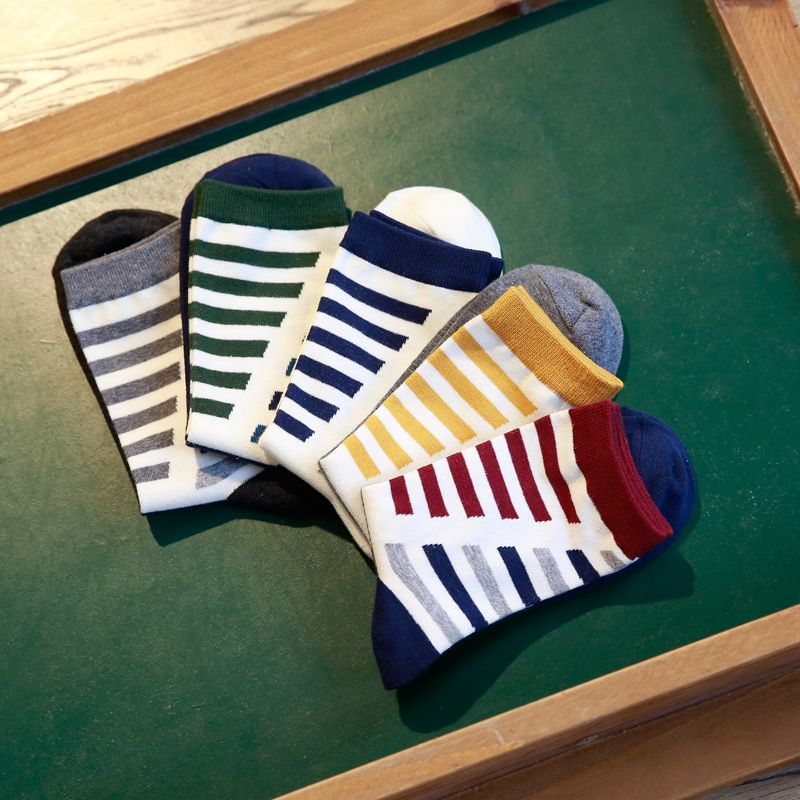 Clearance! fashion men in tube socks socks man socks man colorful stripes EUR39-44