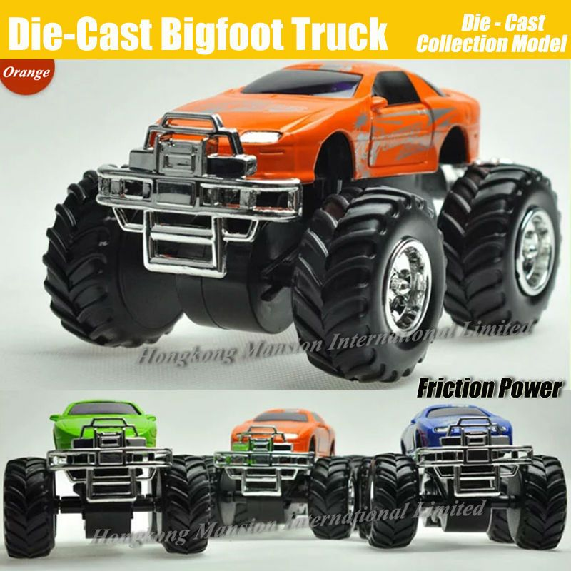 Diecast Alloy Metal Bigfoot Car 1:32 Scale Model Collection Crosscountry Big Wheel Monster Truck Friction Power Toys Vehicle Car