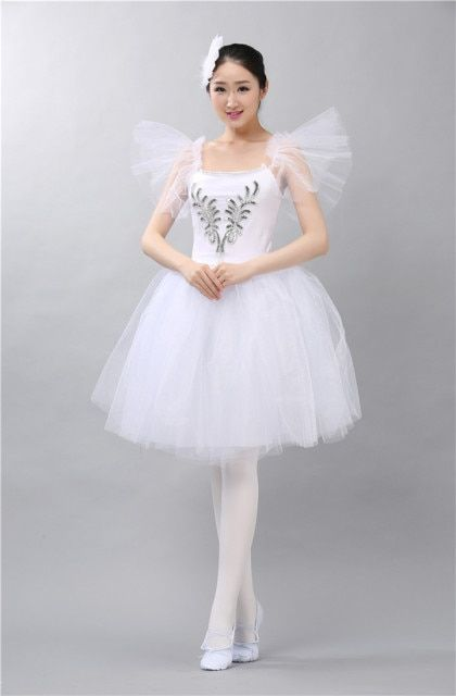 2017 Adult Professional Tutu Ballet Costumes White Adulto Swan Lake Dance Dress Costume Hard Organdy Platter Skirt 6 layers