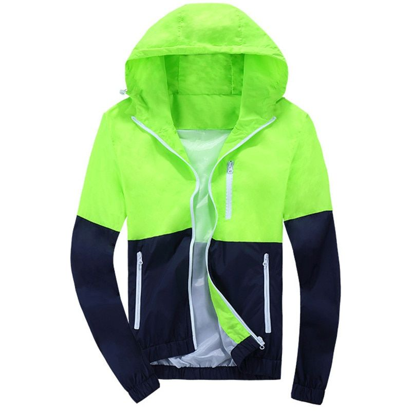 2019 Stylish Fashion High Quality  Jacket Coats, Men Causal Hooded  Jacket,Men Thin Windbreaker Zipper Coats Outwear