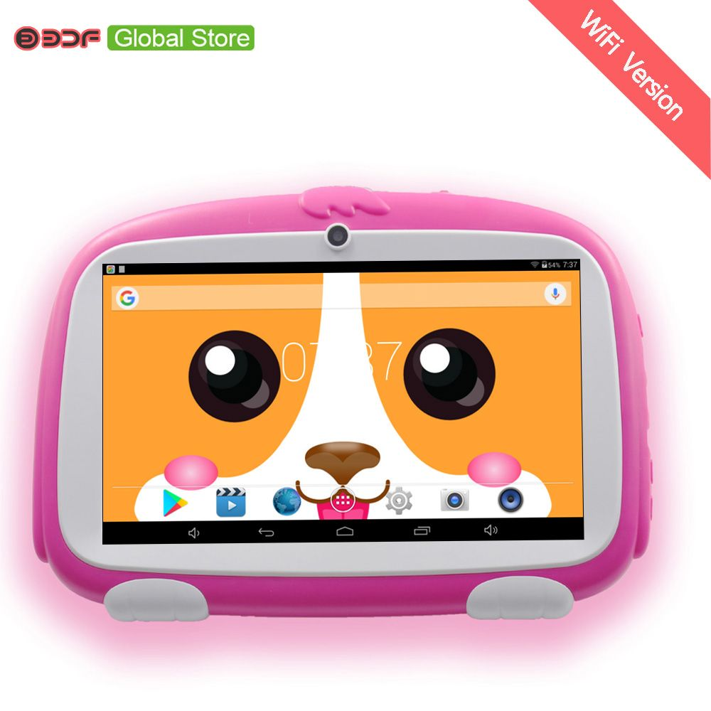 New Design 7 Inch Kids Tablets pc WiFi Quad core Dual Camera  8GB Android 4.4 Children's favorites gifts 8 9 10  inch tablet