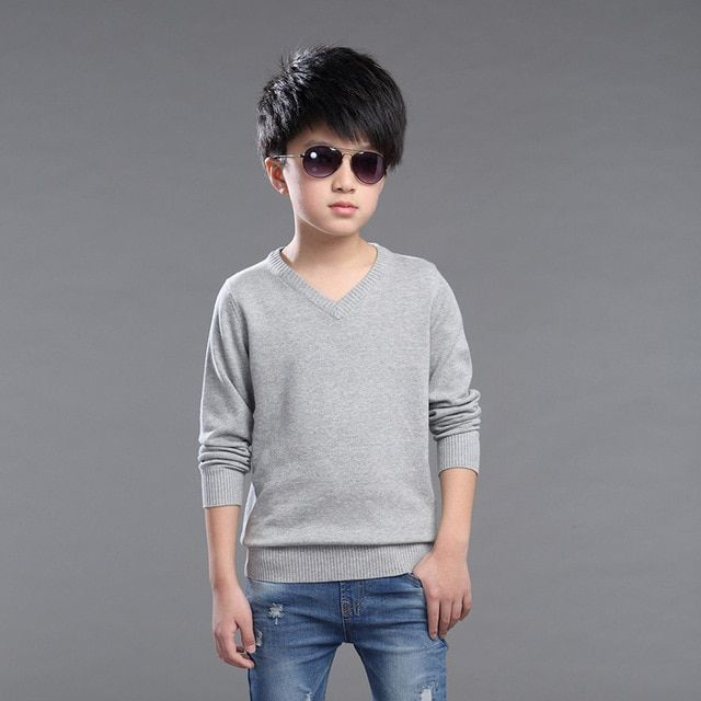 New Hot Sale Boys Sweater Fashion Autumn and Winter Children Cotton Pullovers Sweaters Boy Jacket For 3-14 Years