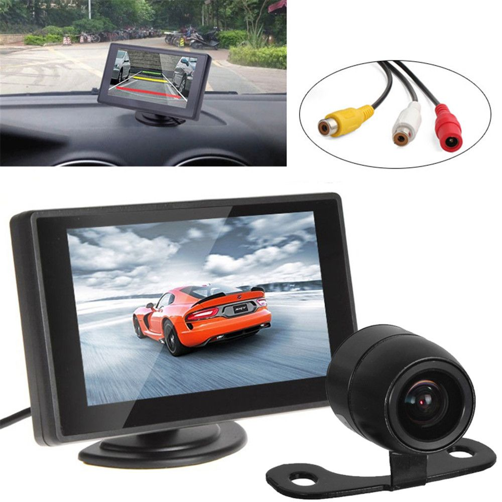 "Car Parking Kit With 4.3"" Color TFT LCD Display Car Monitor Support 480 x 272 Resolution + Waterproof Rear View Car Camera"