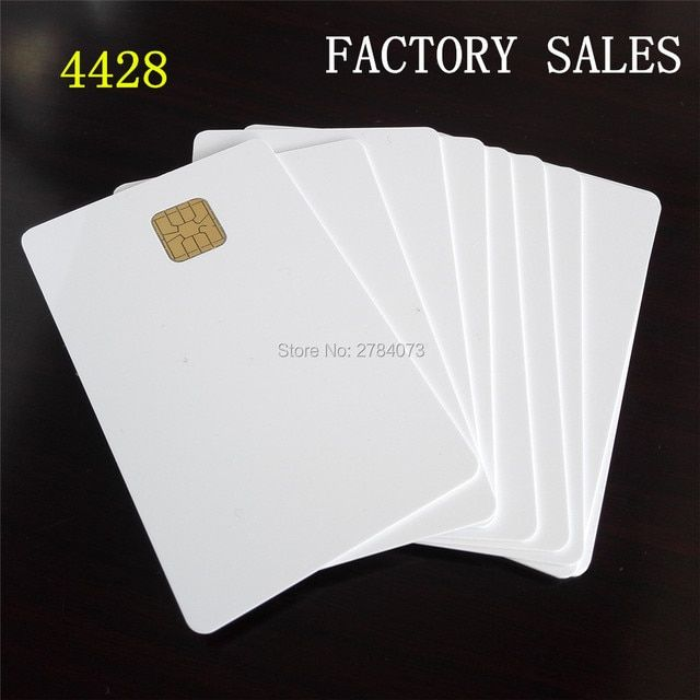 500pcs Best selling 4428 Contact Chip Blank Card pvc Smart Card