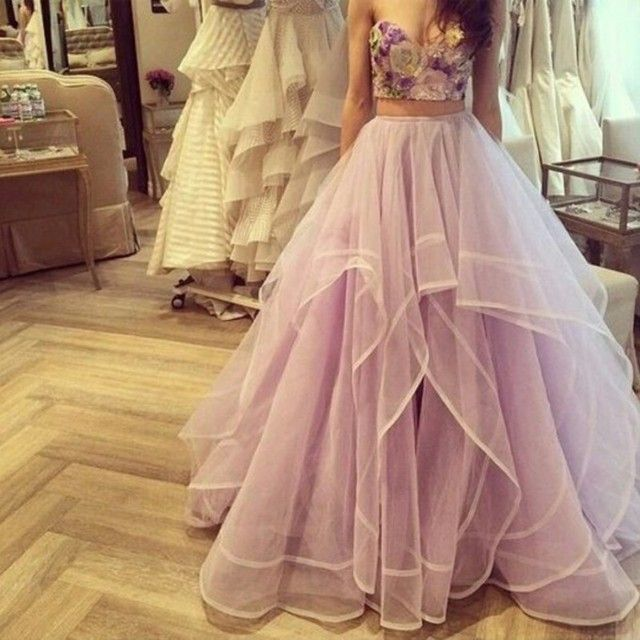 Hot Sale Ribbon Edged Skirt With Draped Layers Ball Gown Floor Length High Waist Lavender Women Tutu Skirt