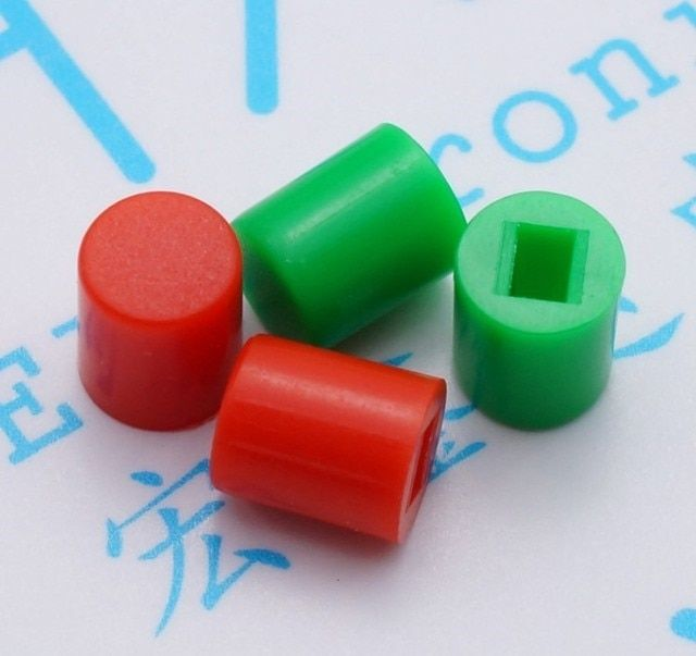 400pcs Switch cap A06 button switch cap 6*7 Red/Green square hole for 8.5*8.5 8*8 7*7 5.8*5.8 switch