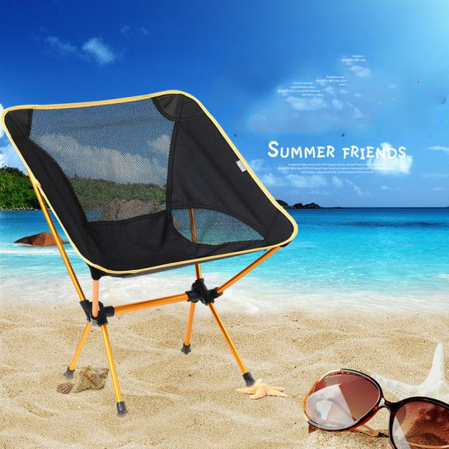 Outdoor portable folding beach chair leisure camp fishing chair