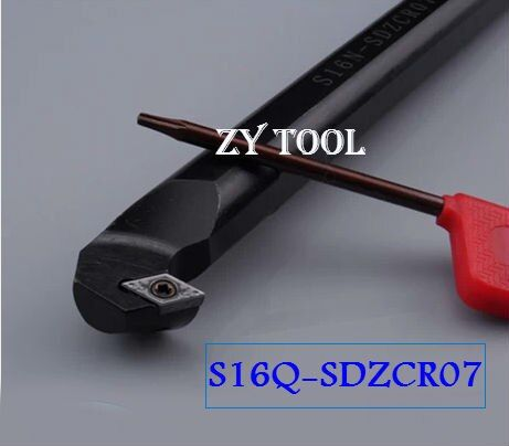 S16Q-SDZCR07 16mm Lathe Cutting Tools,CNC Turning Tool,Hss Lathe Tooling,Internal Threading Tool, Metal Lathe Boring Bar,SDZCR/L