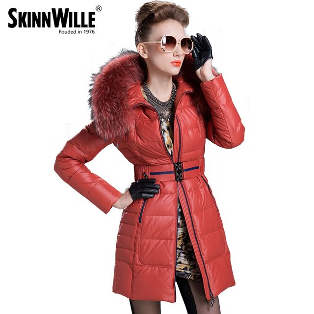 skinnwille Thickening coat winter jacket women down jacket women 2017 fur coat parka fur Warm coat abrigos mujer invierno