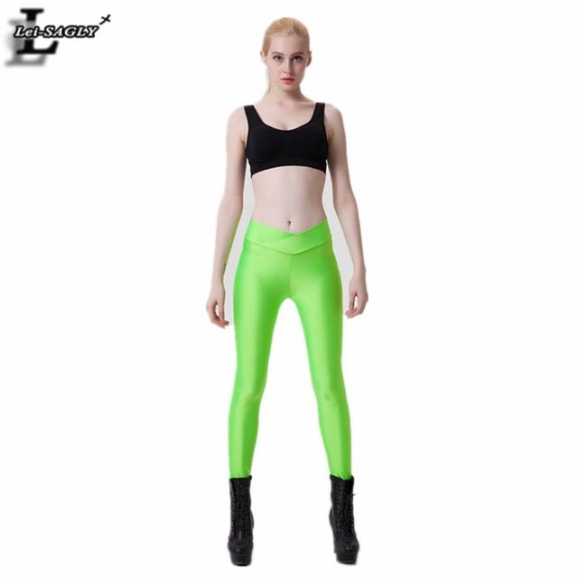 New Fashion Green Candy Colors Leggings Comfortable Casual Solid Youth Harajuku Warm Hipster Pants Slim Workout Legging SLgs9037