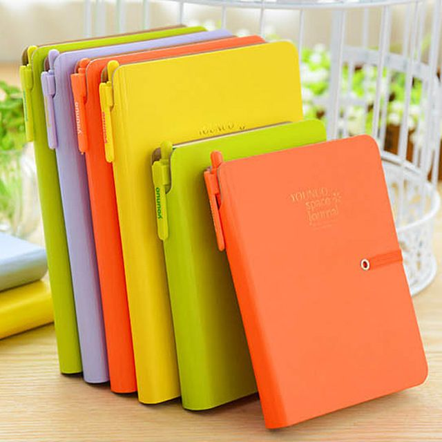2016 New Candy Agenda Planner Spiral Leather Notebook Travel Journal/Personal Diary For Gift Fashion Brand Sketchbook 0562