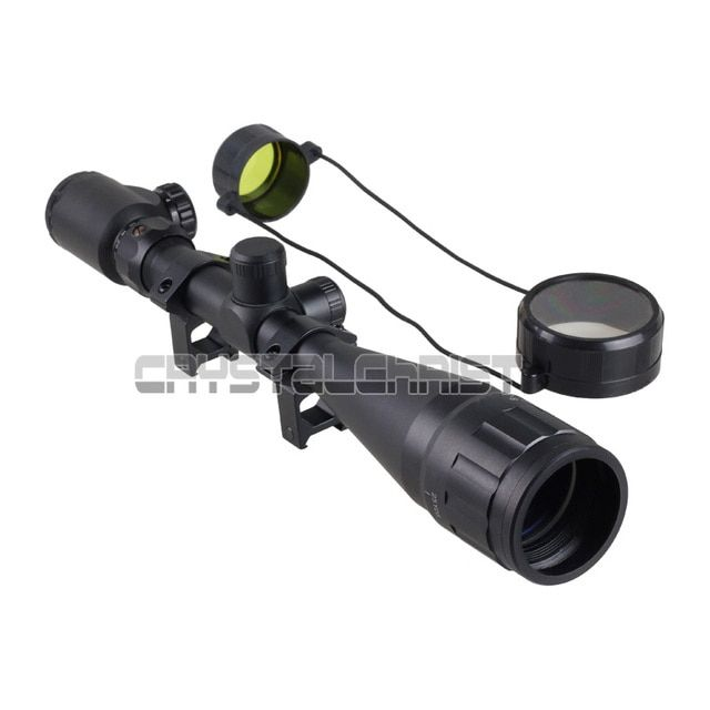 6-24x50 AOE Red Green Mil-dot Illuminated Optics Air Rifle Hunting Scope Sight Hunting Scopes Air Soft Tactical