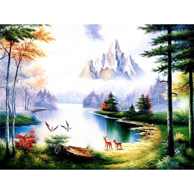 Beautiful Landscape Home Decoration Cheap Modern Oil Painting wall Decoration Pictures For Living Room Bedroom No framed