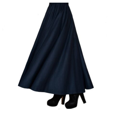 Women casual Long Skirts plus size vintage winter style skirt female autumn women clothing bottoms saia falda pleated skirt F765