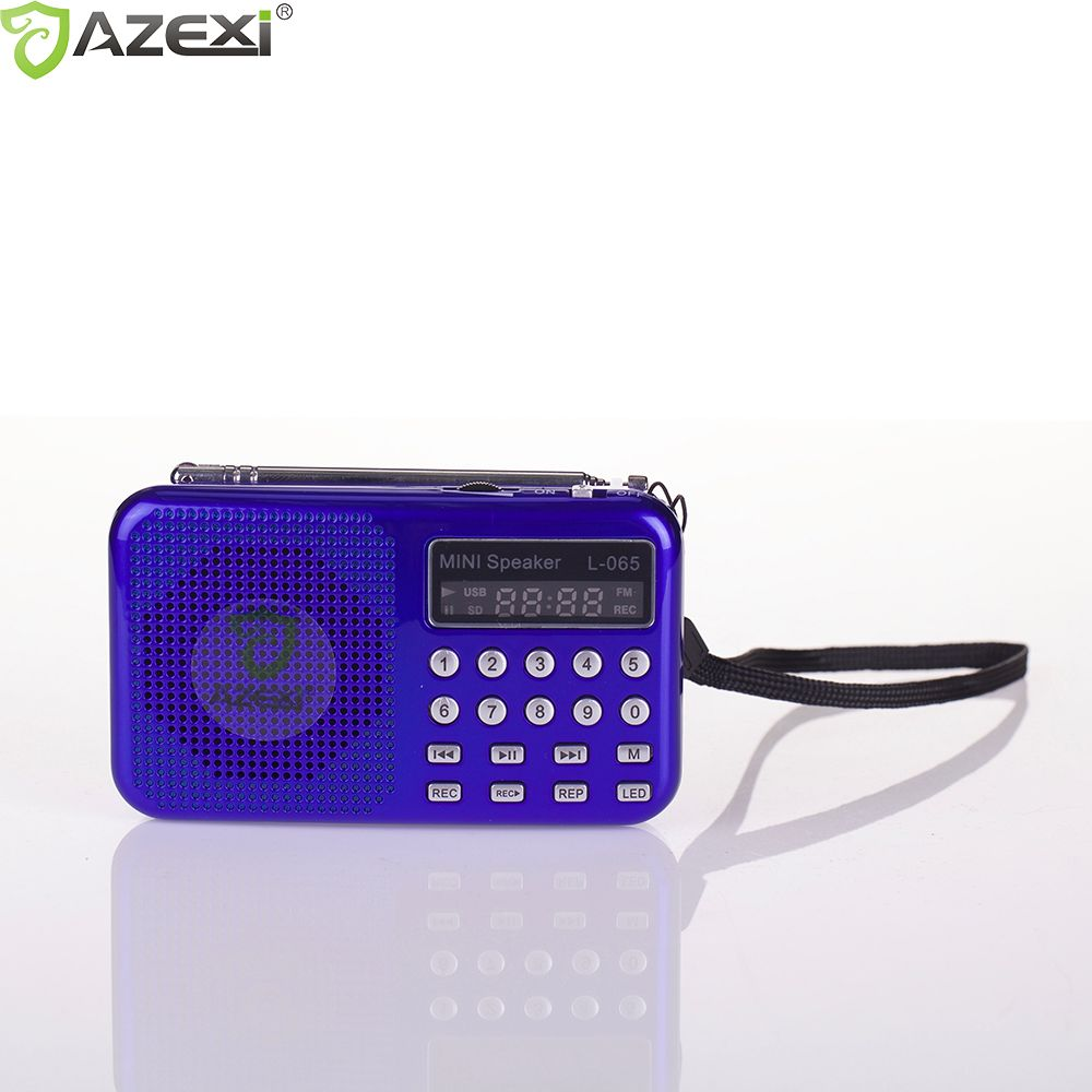 3 Color Mini Dual Band Rechargeable Digital LED Display Panel Stereo FM Radio Speaker USB TF Mirco L-065 for SD Card MP3 Player