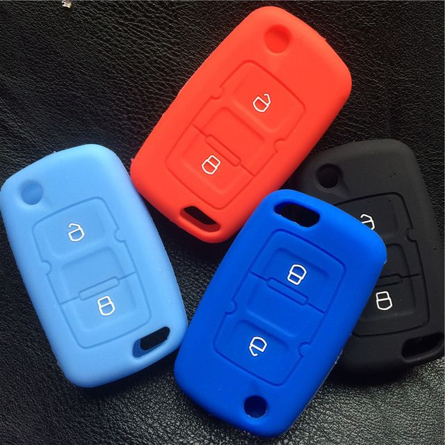 Silicone rubber car key cover case for Geely Dorsett EC7 EC7-RV EC715 EC718 SC7  Prestige SL 2 button floding key case