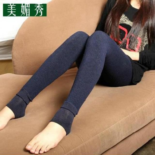 2017 New Super Warm Winter Velvet Leggings With Thickened Cotton Antipilling Colorful Thickening Free Shipping
