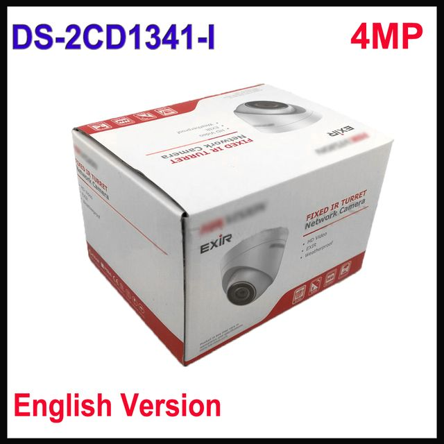 Free shipping Hikvision 4MP CCTV camera DS-2CD1341-I replace DS-2CD2345-I POE ip camera 4mp upgradable firmware
