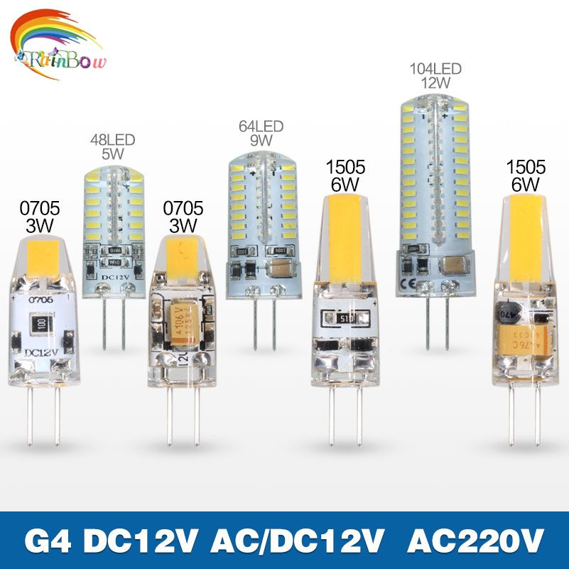 Mini G4 LED Lamp G4 LED Bulb 3W 6W 9W 220V AC12V LED G4 Light Dimmable 360 Beam Angle Chandelier Light Replace Halogen G4 Lamps