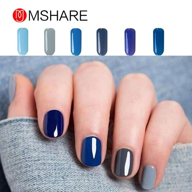 MSHARE 10ML Soak Off UV Gel Nail Polish Long-lasting Cosmetic Led Lamp Gel Nails Art Salon Gorgeous Colors Nagellak Gel 019