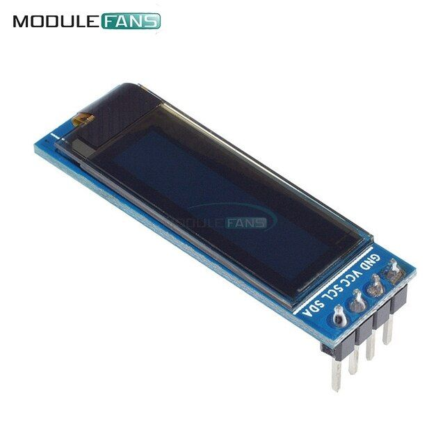 "0.91 inch 128x32 I2C IIC Serial Blue OLED LCD Display Module 0.91"" 12832 SSD1306 LCD Screen for Arduino Module"