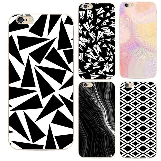 2016 line twist rotation for apple iphone 6 case stuns screen phone shell painted abstract triangle tpu soft for 6s cases