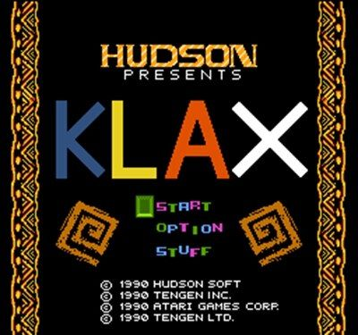 Klax 60 Pin Game Card For 8 Bit Subor Game Player