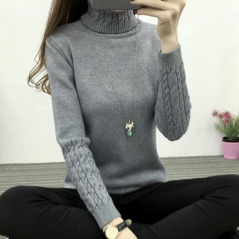 TIGENA Thick Warm Turtleneck Sweater Women 2019 Winter Knitted Pullover Sweater Female Long Sleeve Cashmere Sweater Jumper Tops
