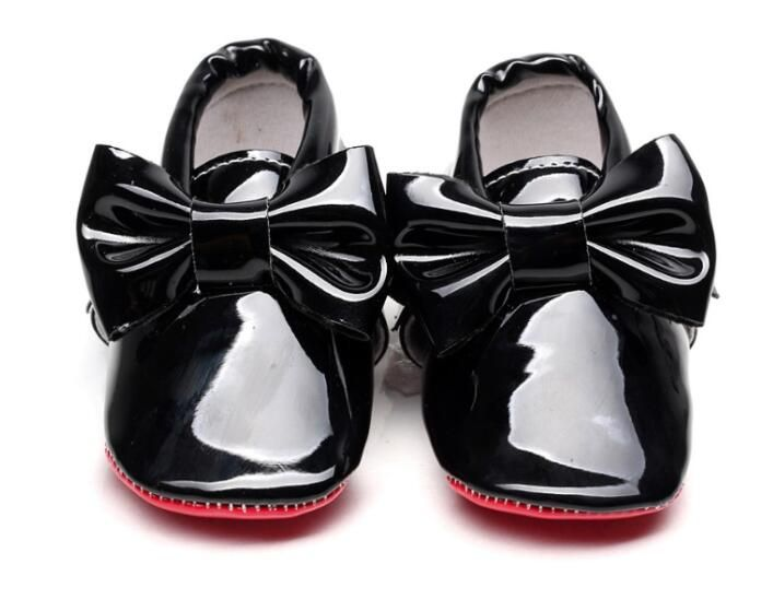 2019 New hot sale Red sole Pu patent Leather Baby Moccasins Baby Shoes Newborn first walker Infant Crib bebe Shoes 0-2 years