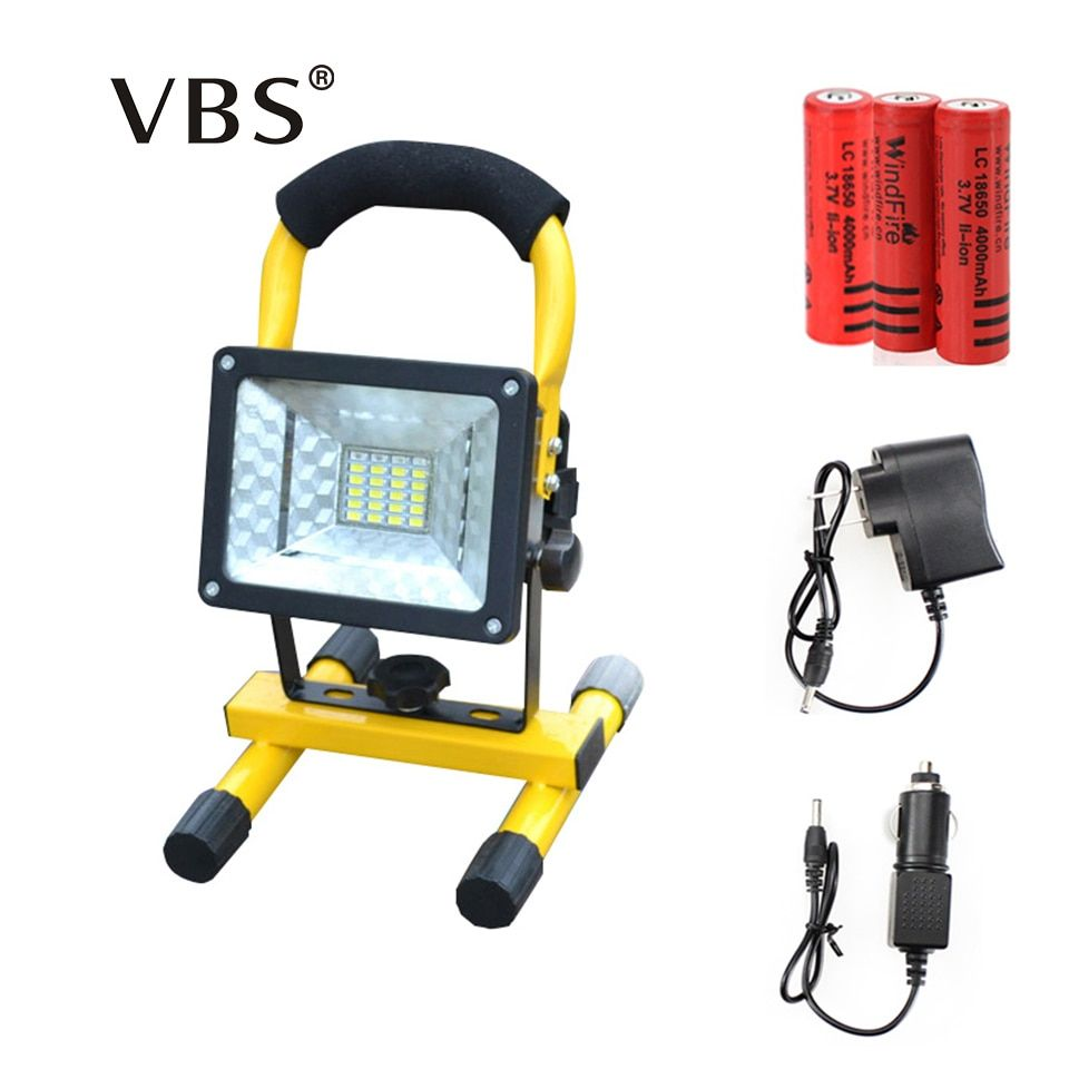 Rechargeable LED Floodlight T6 Portable Spotlight Movable outdoor camping light grassland include 3*18650 battery and charger