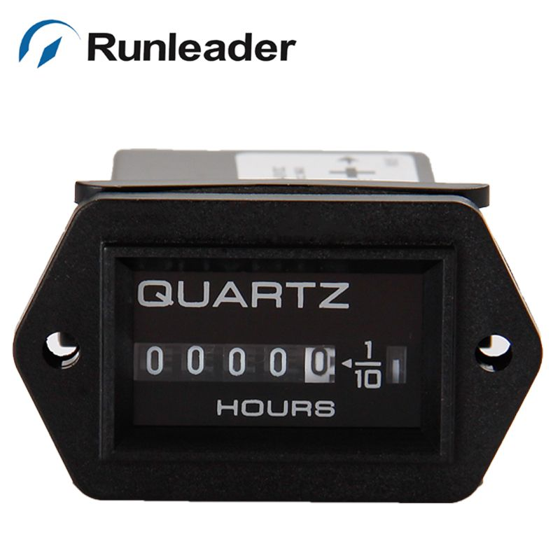 Runleader 5pcs/lot DC12-40V Mechanical Hour Meter for Diesel Engines Mower Tractor Boat generators mower transfer pump Truck