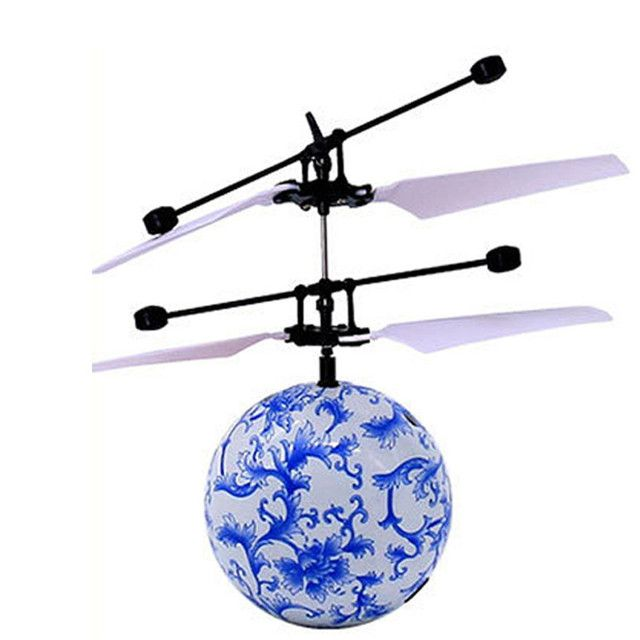 Motion-Sensoring Flying RC Balls Hand Induced Flight with LED Lights Colorful Flashing LED Light Display Helicopter